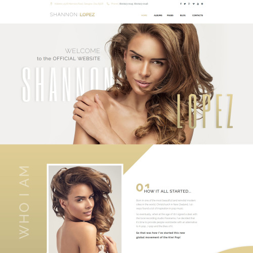 Shannon Lopez - HTML5 WordPress Template