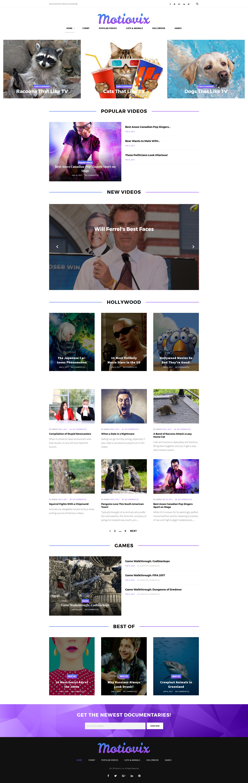 "Tema De WordPress ""Motiovix - Video Streaming Responsive"" #63882"