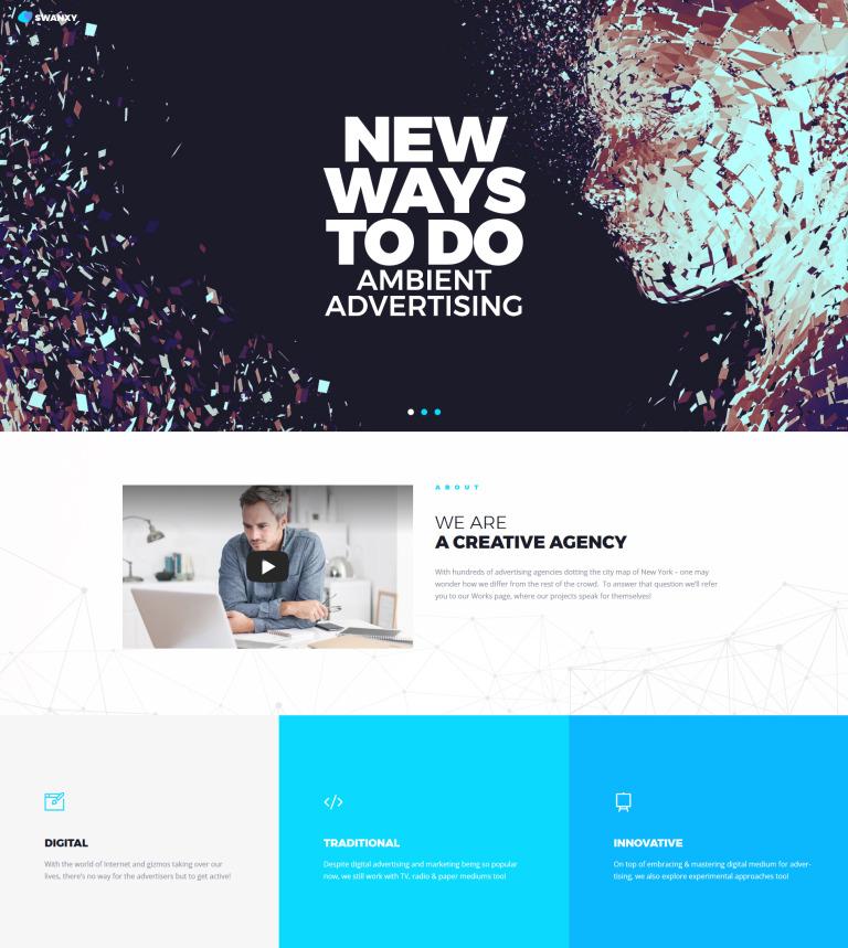 Tema de WordPress #63840 para Sitio de Agencias de publicidad