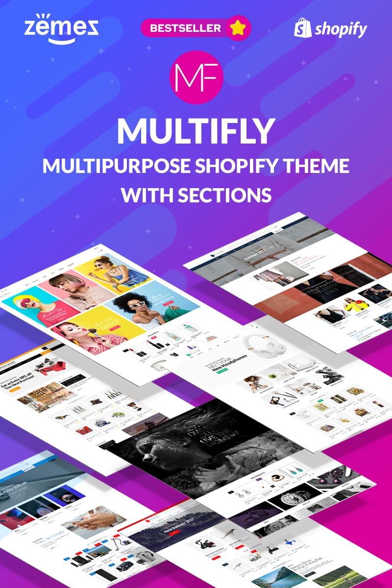 "Tema Shopify ""Multifly - Multipurpose Online Store"" #63842 - captura de pantalla"