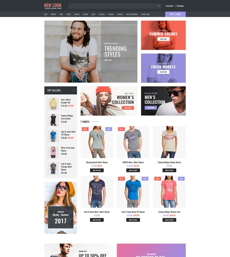 Template OpenCart Flexível para Sites de Lojas de Camisetas №63829 New  Screenshots BIG 3195bfc03cb