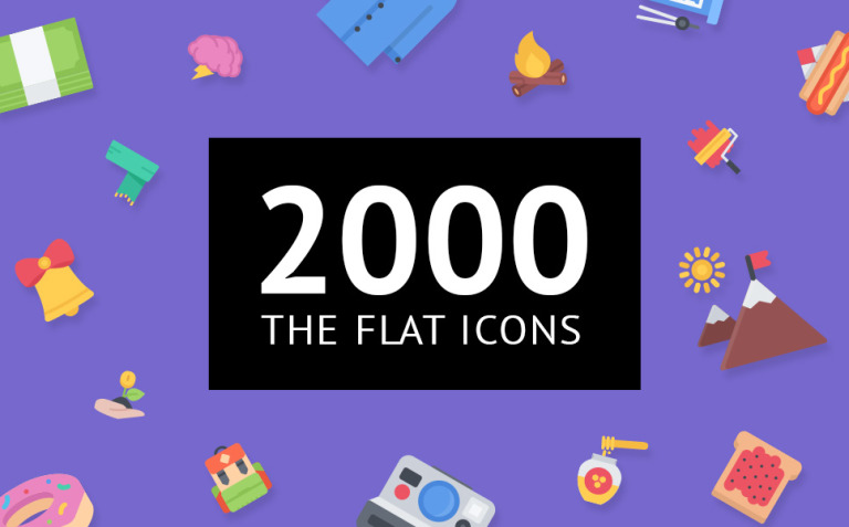 The Flat Icons 2000 Iconset Template New Screenshots BIG