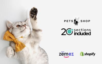Thème Shopify adaptatif  pour les boutiques d'animaux  #63802