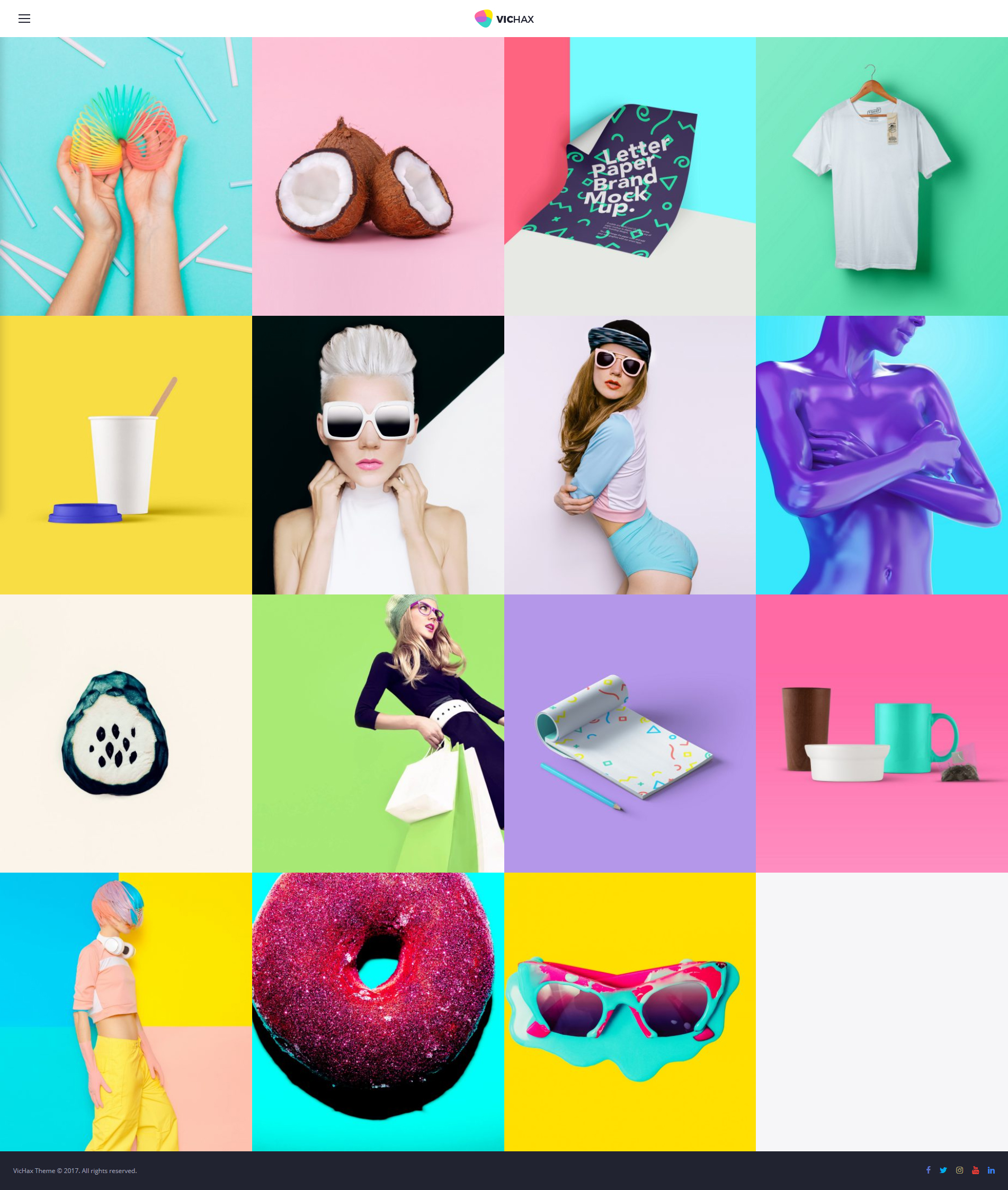 VicHax - Designer Portfolio WordPress Theme - screenshot
