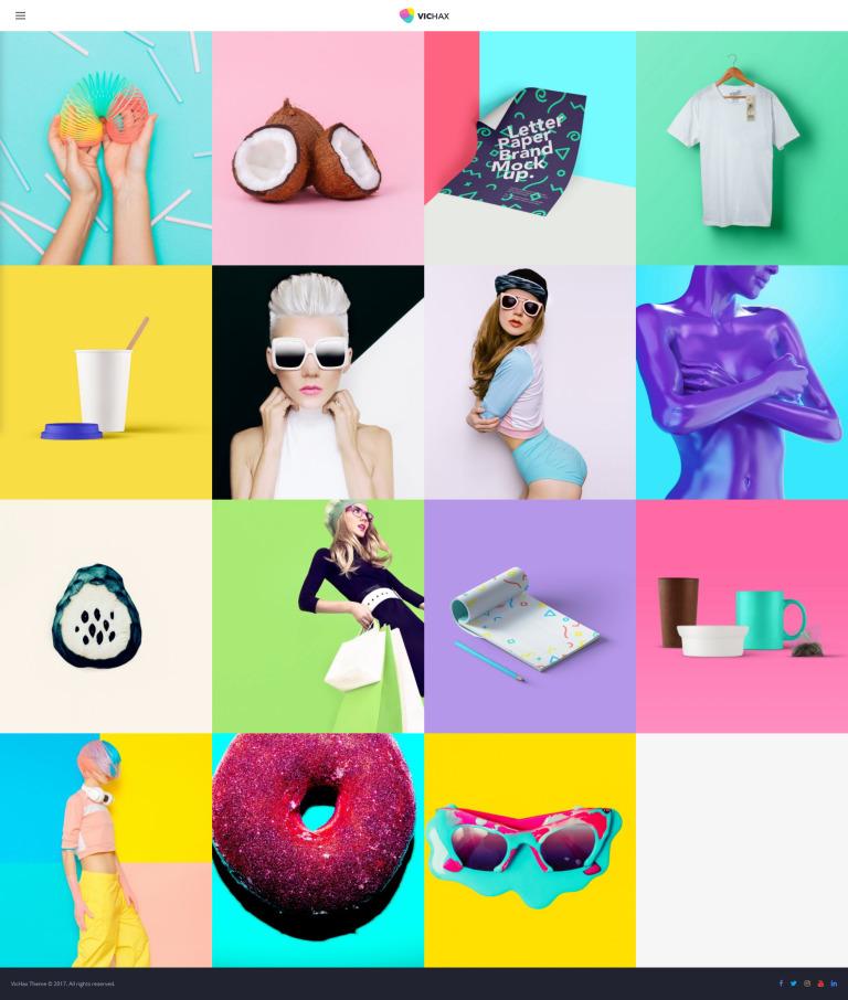 VicHax - Designer Portfolio WordPress Theme New Screenshots BIG