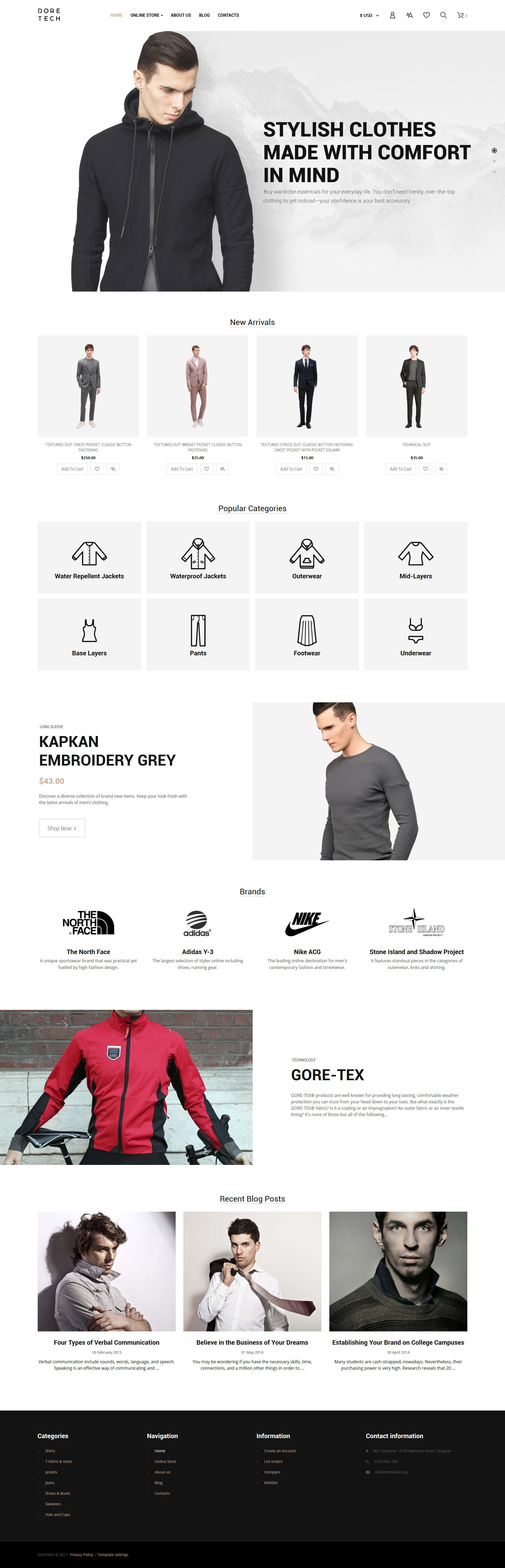 VirtueMart шаблон на тему мода та краса №63887 - скріншот