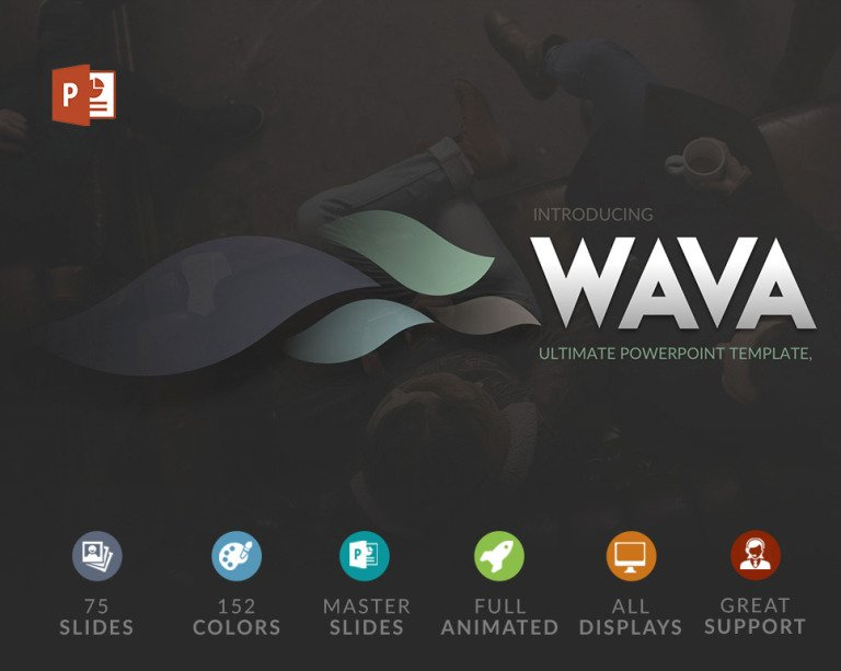 Wava PowerPoint Template New Screenshots BIG