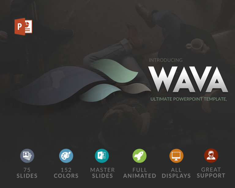 Wava PowerPoint Template New Screenshots BIG