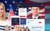 "WordPress Theme namens ""Minister - Political Candidate Responsive"" New Screenshots BIG"