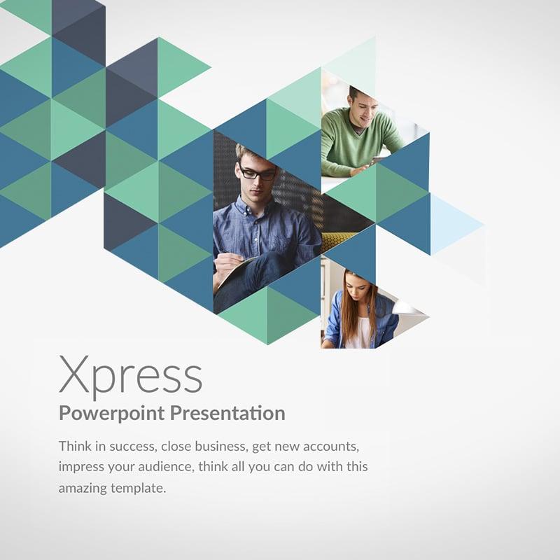 """Xpress"" - PowerPoint шаблон №63886"