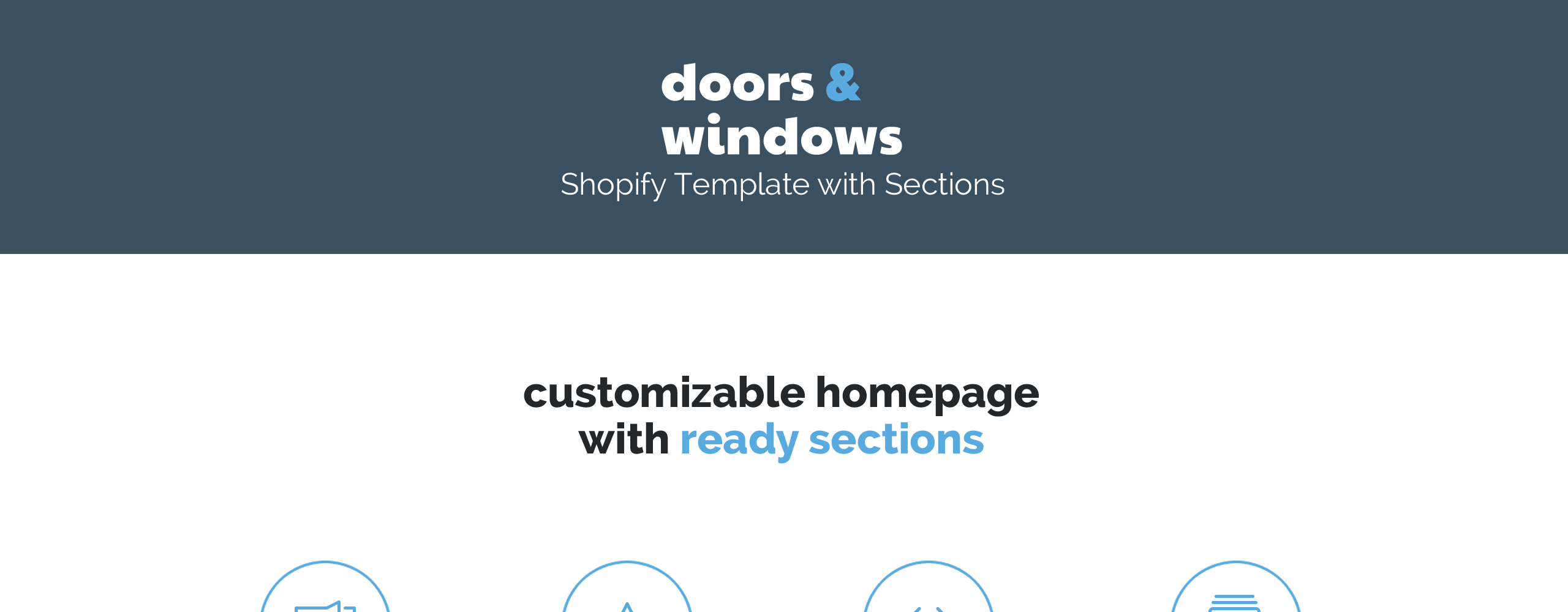Windows and Doors Responsive Shopify Theme