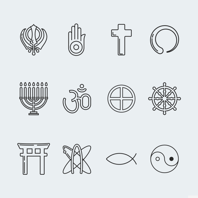 Religion vector icon set vol. 3 Icon Sets