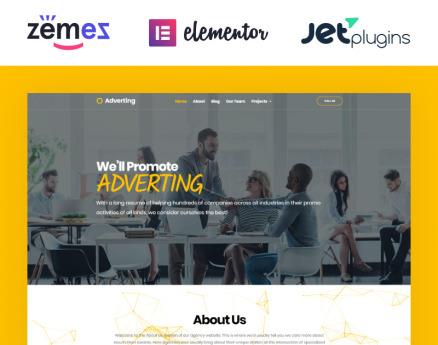 Adverting - Advertising Agency Responsive WordPress Theme