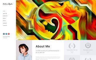 Valerie Ryler - Artist Portfolio Responsive HTML5 Website Template