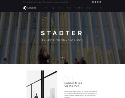 Stadter - Construction Company WordPress Theme