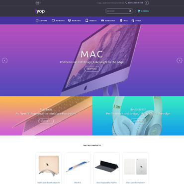 Preview image of Computers Shopify Theme No. 63965