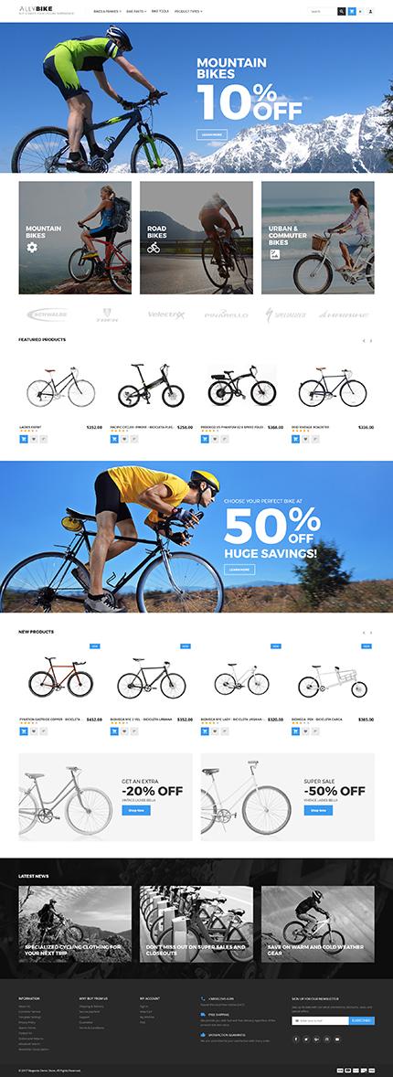 AllyBike - Cycling Supplies Store Responsive Magento Theme 2