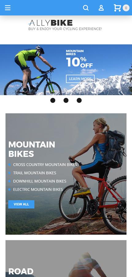AllyBike - Cycling Supplies Store Responsive Magento Theme 4