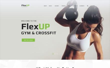 Flex Up - Crossfit WordPress theme WordPress Theme