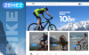 Адаптивний Magento шаблон на тему велоспорт New Screenshots BIG