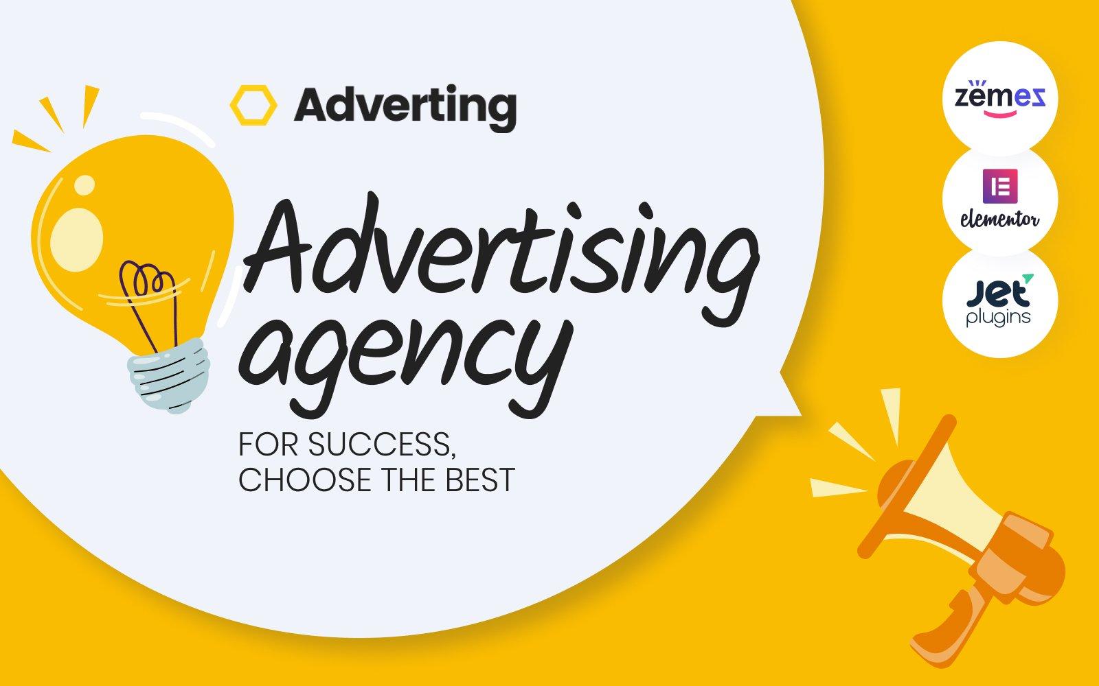 """Adverting - Advertising Agency Responsive WordPress Theme"" Responsive WordPress thema №63935"