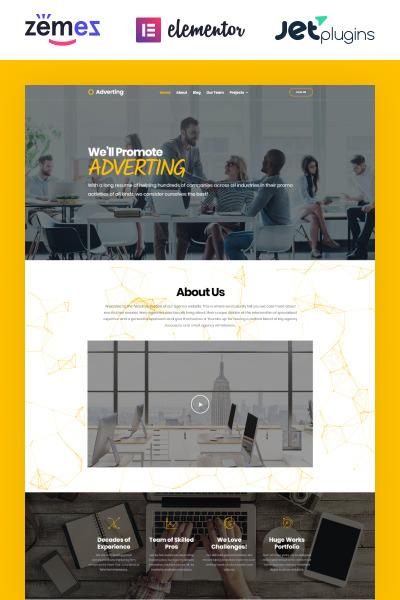 Adverting - Duyarlı Reklam Ajansı WordPress Teması  #63935