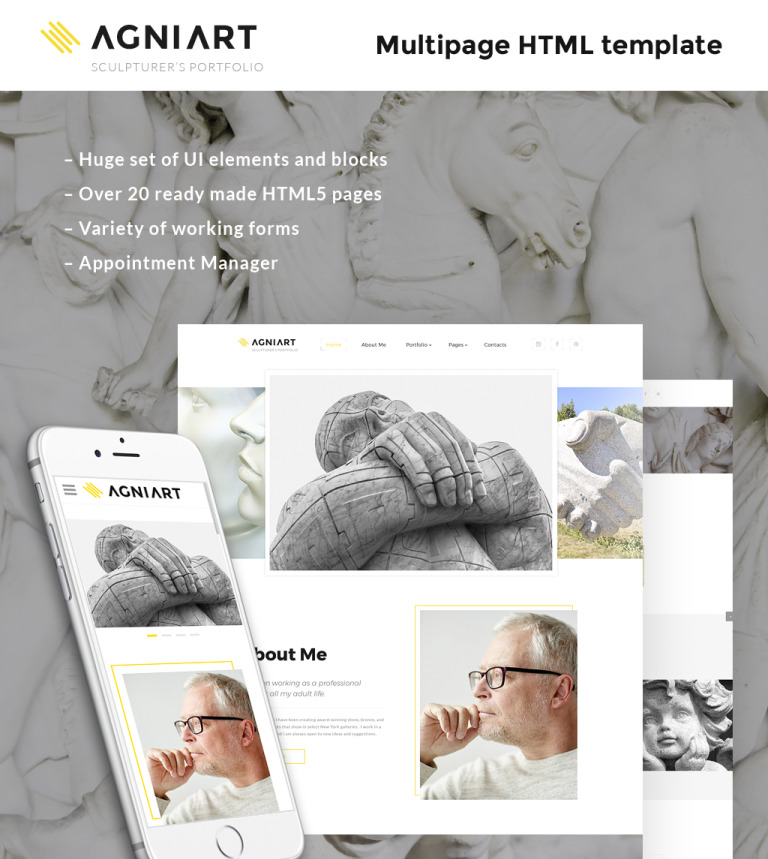 Sculptor Photo Gallery Template