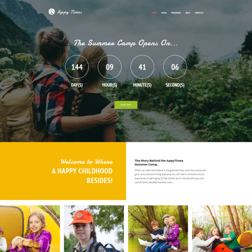 AppyTimes - HTML5 WordPress Summer Camp Template