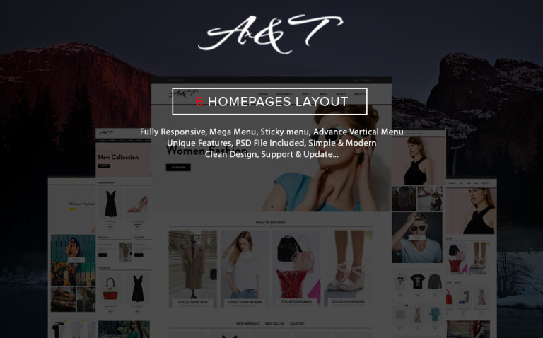A&T Shopify Theme New Screenshots BIG