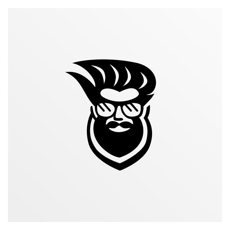 Beard Man Logo Template
