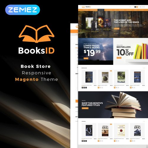BooksID - Book Store - HTML5 Magento Template
