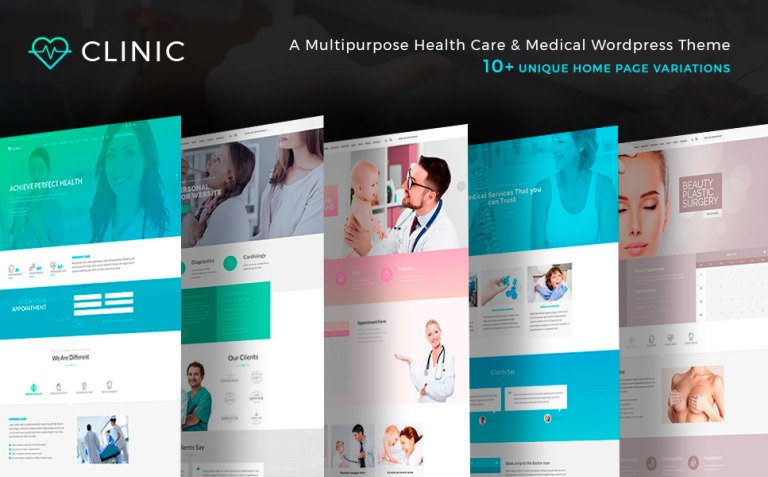 Clinic - Health and Medical Center WordPress Theme New Screenshots BIG