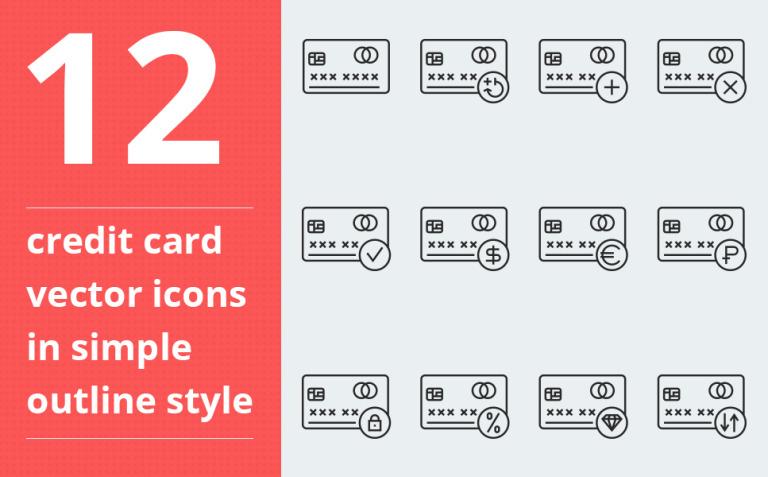 Credit card vector Iconset Template New Screenshots BIG