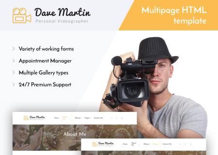 Videographer Responsive HTML5