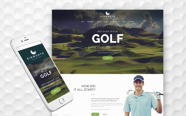 Eirworth - Golfing Club Responsive WordPress Theme New Screenshots BIG
