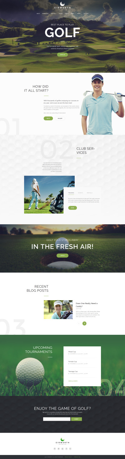 Eirworth - Golfing Club Responsive WordPress Theme #63966