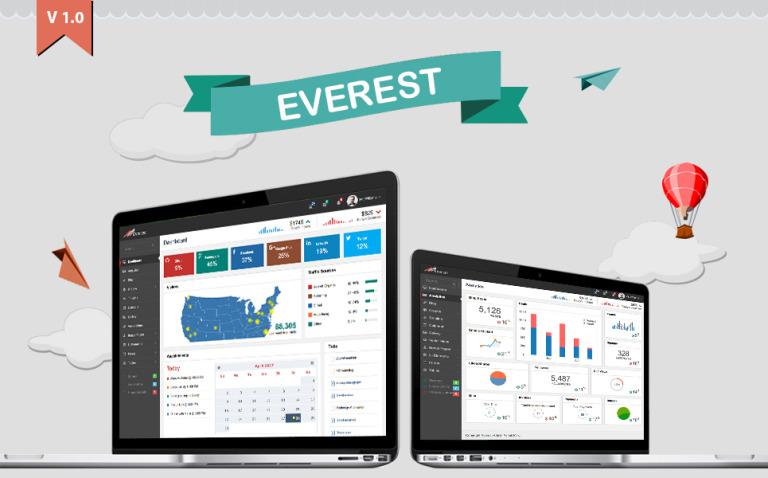 Everest Dashboard Admin Template New Screenshots BIG
