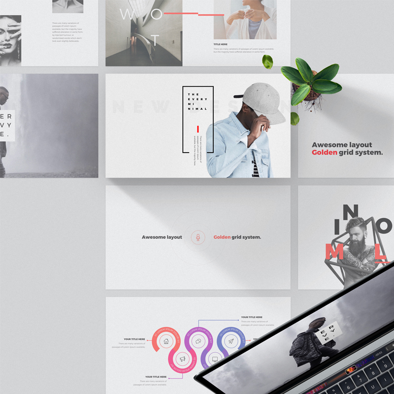 """Every - Minimal"" PowerPoint Template №63918"