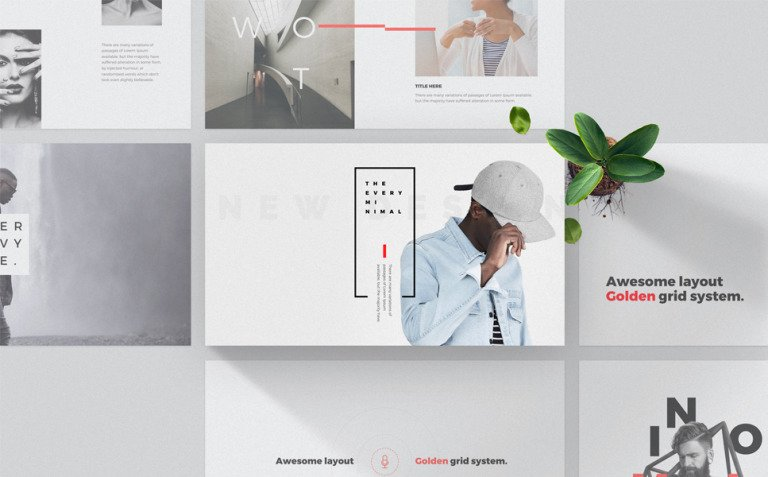 Every - Minimal PowerPoint Template New Screenshots BIG