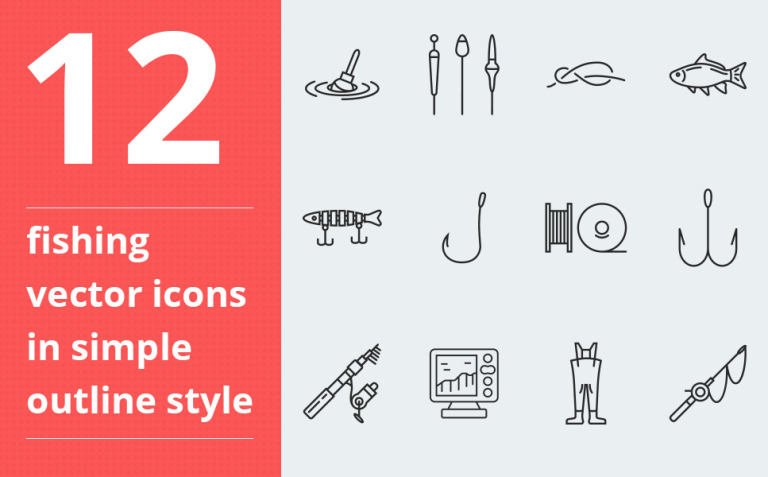 Fishing vector icons vol.1 Iconset Template New Screenshots BIG