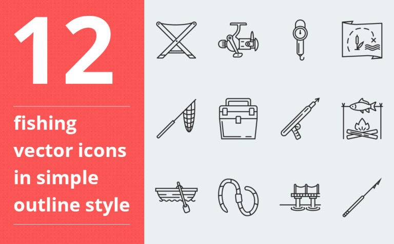 Fishing vector icons vol.2 Iconset Template New Screenshots BIG