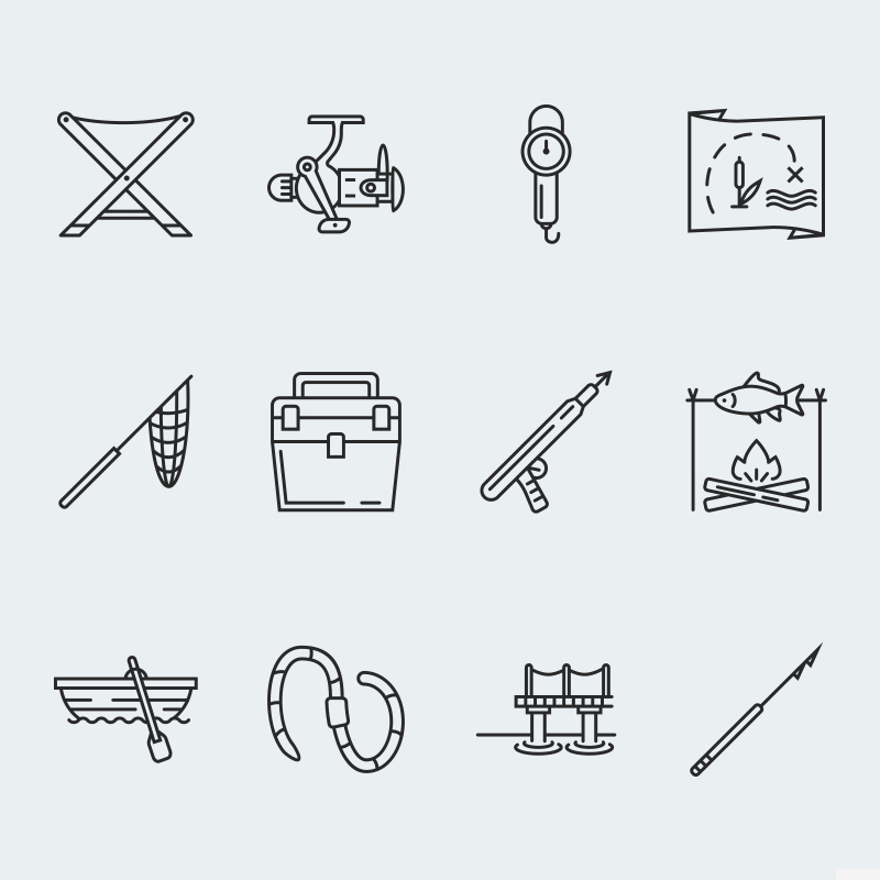 Fishing vector icons vol.2 №63924 - скриншот