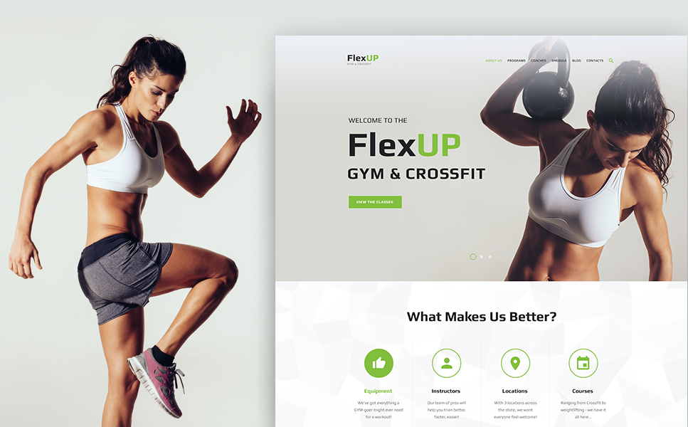 Flex Up - Crossfit WordPress Theme