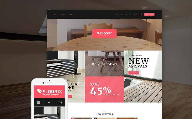 Flooring Responsive PrestaShop Theme New Screenshots BIG