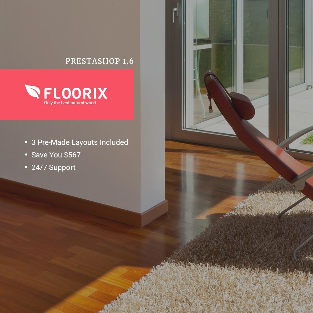 """""""Floorix"""" - адаптивний PrestaShop шаблон №63937 - скріншот"""