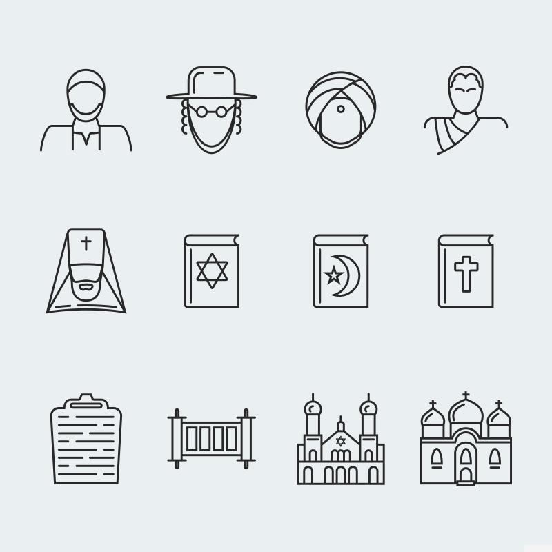 "Icon-Sammlungen Vorlage namens ""Religion vector icons vol.1"" #63928 - Screenshot"