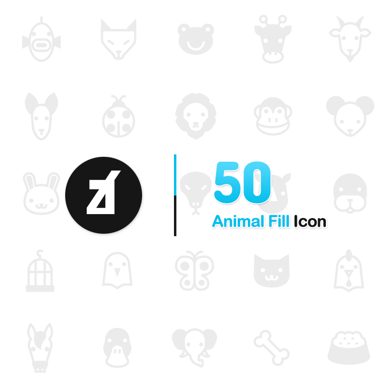 "Iconset šablona ""Animal Fill"" #63949"