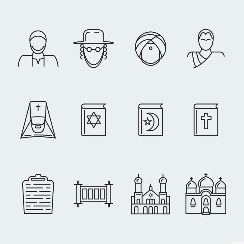 "Iconset šablona ""Religion vector icons vol.1"" #63928"