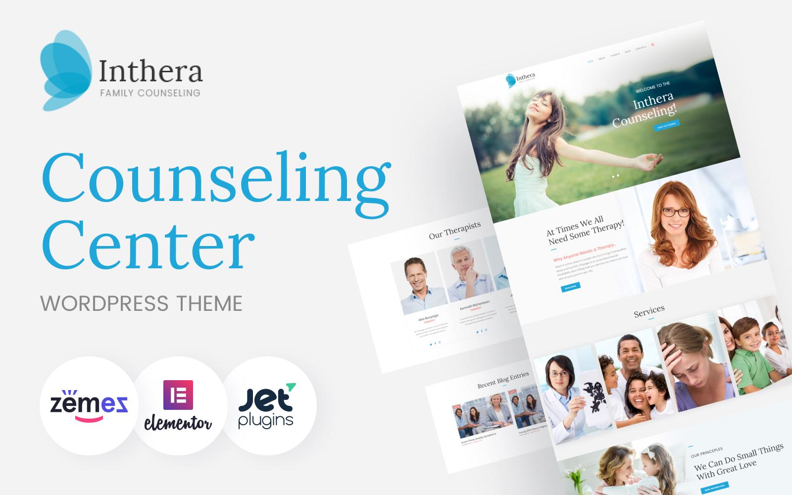 """""""Inthera - Counseling Centre"""" Responsive WordPress thema №63936"""