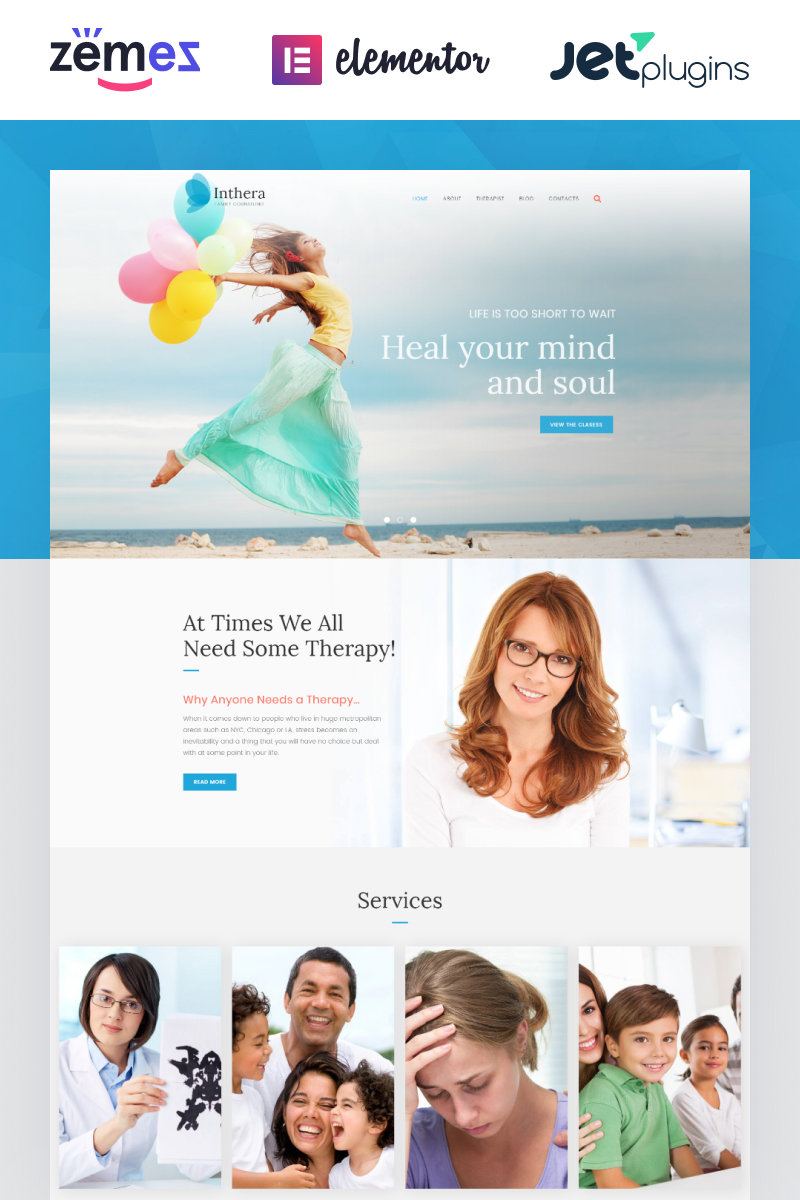 """Inthera - Counseling Centre"" thème WordPress adaptatif #63936"